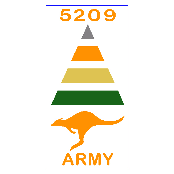 Army ID Sticker