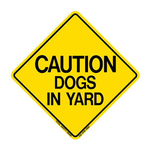 Pet-Caution Dog-In-Yard