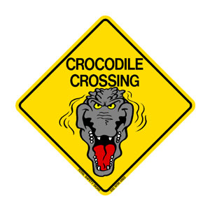 Humour-Crocodile Crossing