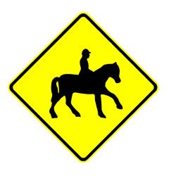 Road - Warning - Horse Riding Area Ahead