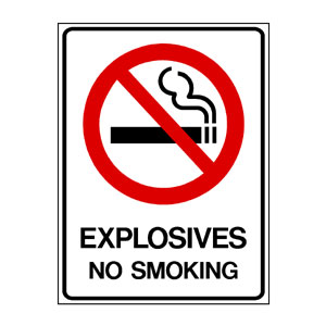 Prohibition Explosives No Smoking