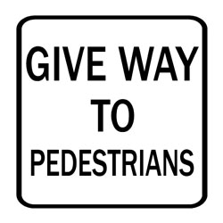 Road - Warning - Giveway To Pedestrians
