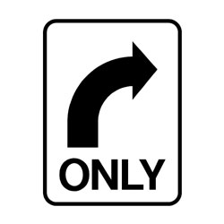 Road - Regulatory - Right Turn Only ( Arrow )