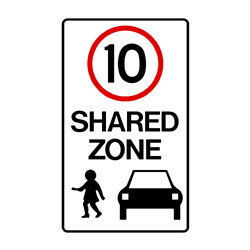 Road - Regulatory - 10km Shared Zone