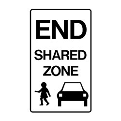 Road - Regulatory - End Shared Zone