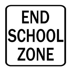 Road - Regulatory - End School Zone