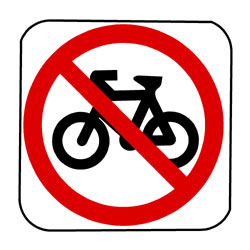 Road - Regulatory - No Bikes