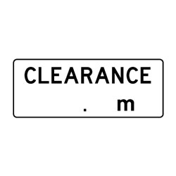 Road - Regulatory - Clearance  M