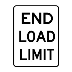 Road - Regulatory - End Load Limit