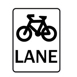Road - Regulatory - Bicycle Lane