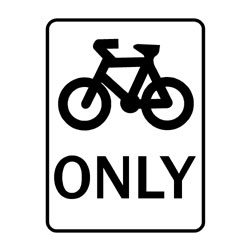 Road - Regulatory - Bicycle Only