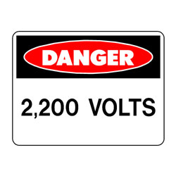 Danger 2,200 Volts