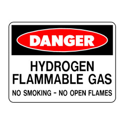 Danger Hydrogen Flammable Gas