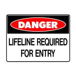 Danger Lifeline Required For Entry