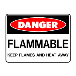 Danger Flammable Keep Flames And Heat Away