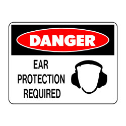 Danger - Ear Protection Required