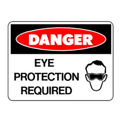 Danger - Eye Protection Required
