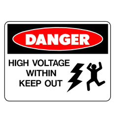 Danger - High Voltage Within Keep Out