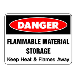 Danger Flammable Material Storage