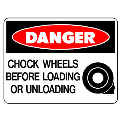 Danger Chock Wheels (Picto)