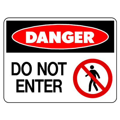 Danger Do Not Enter (Picto)
