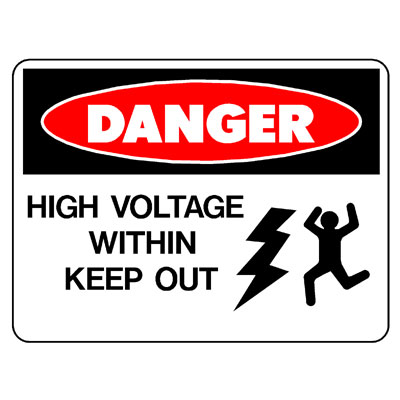 Danger High Voltage Within (Picto)