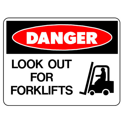 Danger Look Out For Forklifts (Picto)