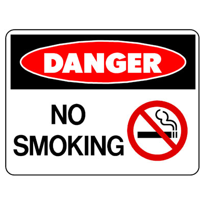 Danger No Smoking (Picto)