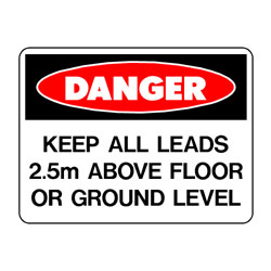 Danger Electrical Lead