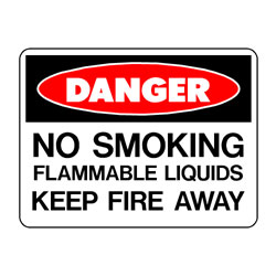Danger No Smoking FLammable Liquids