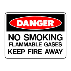 Danger No Smoking Flammable Gases