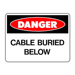 Danger Cable Buried Below