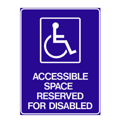 Disabled - Accessible Space Reserved For Disabled