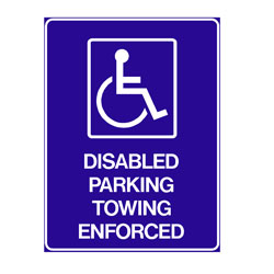 Disabled - Disabled Parking Towing Enforced