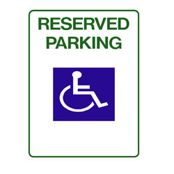 Disabled - Disabled Persons Parking Only