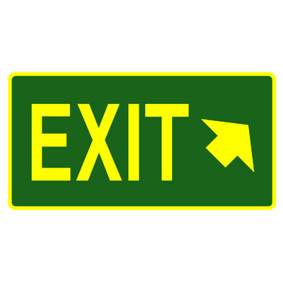 Exit - Exit (Arrow) Upper Right Corner )