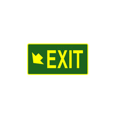 Exit - Exit (Arrow Lower Left Corner)