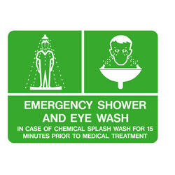First Aid - Emergency Shower and Eye Wash