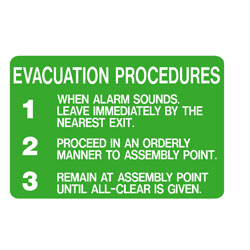 First Aid - Evacuation Procedure