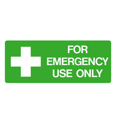 First Aid - For Emergency Use Only