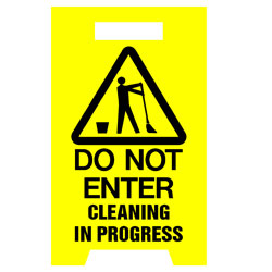Floor Stand - Do Not Enter Cleaning In Progress