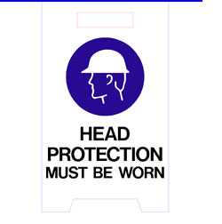 Floor Stand - Head Protection Must Be Worn