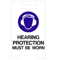 Floor Stand - Hearing Protection Must Be Worn