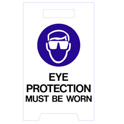 Floor Stand  - Eye Protection Must Be Worn