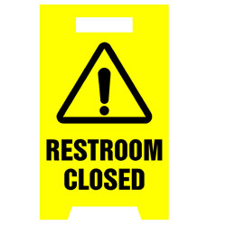 Floor Stand - Restrooms Closed