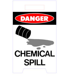Floor Stand - Danger Chemical Spill