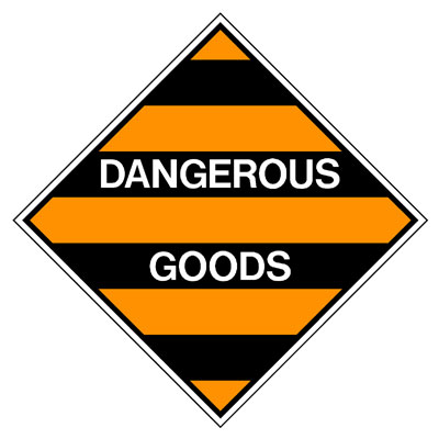 Hazardous Class Label - Dangerous Goods
