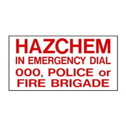 Hazchem Emergency Contact Panel