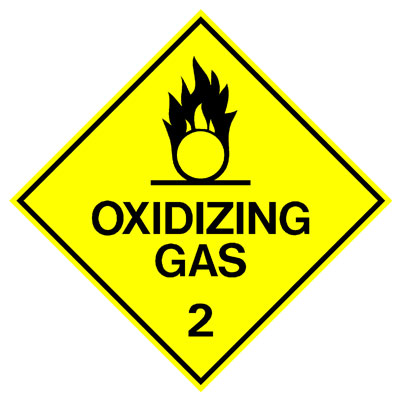 Hazardous Class Label - Oxidizing Gas 2