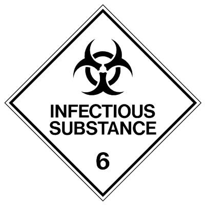 Hazardous Class Label - Infectious Substance 6